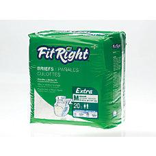 FitRight Extra Disposable Briefs Medium White