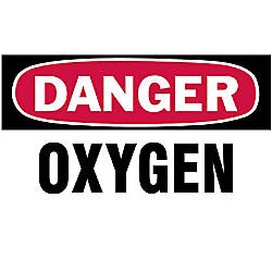 3 X5 DANGER OXYGEN GASCYLINDER LABEL