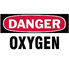3 X5 DANGER OXYGEN GASCYLINDER LABEL