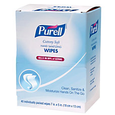 Purell Sanitizing Wipes Box Of 40