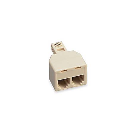 Softalk duplex telephone adapter modular duplex jack 2 for Modular duplex prices