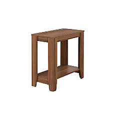 Monarch Specialties Side Table Rectangle Walnut