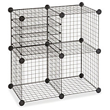 Safco 5279 Wire Cube 4 Compartments