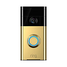 Ring Video Doorbell Polished Brass
