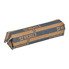 Sparco Flat Coin Wrappers Nickels 200