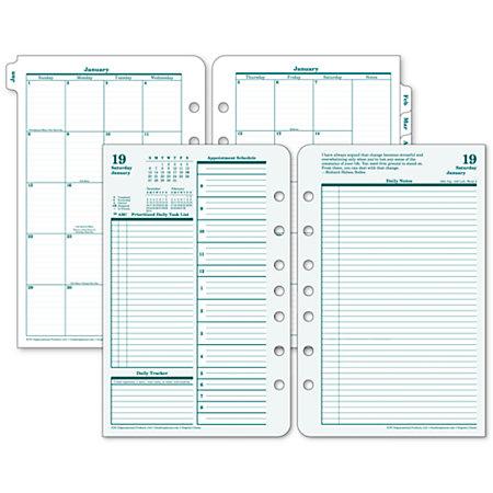 Franklincovey Original Design Planner Refill 5 12 X 8 12