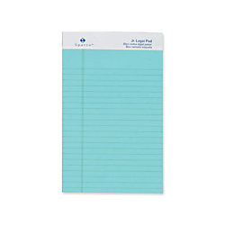 Sparco colored jr legal ruled writing pads 50 sheets glue Blue bond paper