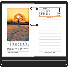 AT A GLANCE Photographic Desk Calendar