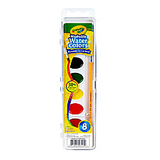 Crayola Washable Watercolor Set With Brush