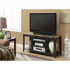 Monarch Specialties Marble Look TV Stand