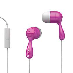 JBuds Hi-Fi Noise-Reducing Earbuds, Pink