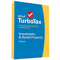 TurboTax Premier Federal E File State Investments Rental