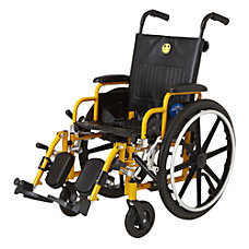 Medline Kidz Pediatric Wheelchair Yellow