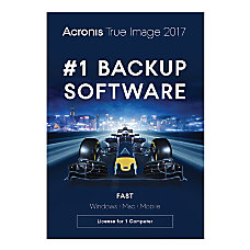Acronis True Image 2017 Backup Software