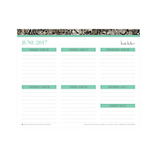 Nicole Miller Weekly Planning Pad 10