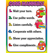 Scholastic Practice Chart Good Manners 17