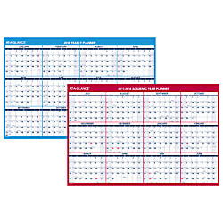 AT A GLANCE Reversible Erasable Monthly