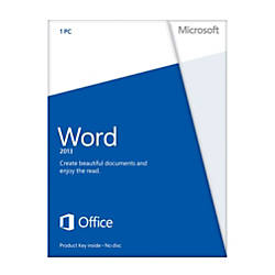 Microsoft® Office Word 2013, English Version, Product Key