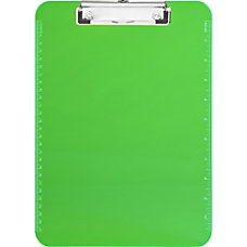 Sparco Plastic Clipboard With Flat Clip