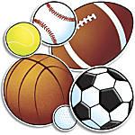 Scholastic Bulletin Board Accents Sports 9