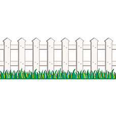 Scholastic Picket Fence Bulletin Border 9