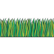 Scholastic Bulletin Board Accents Grass 9