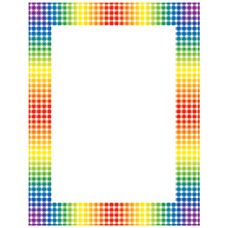 Scholastic Colorful Design Paper Rainbow Gingham