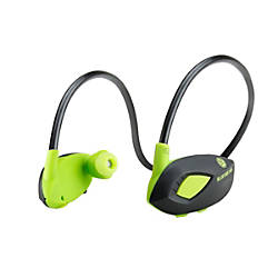 gogroove bluevibe agl bluetooth wireless earbud headphones green by office depot officemax. Black Bedroom Furniture Sets. Home Design Ideas