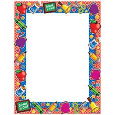 Scholastic Colorful Design Paper School Tools
