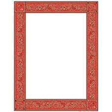 Scholastic Colorful Design Paper Red Bandanna