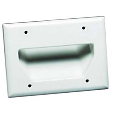 Datacomm 3 Gang Recessed Cable Plate
