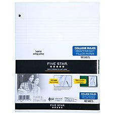 Five Star Heavyweight Filler Paper 8