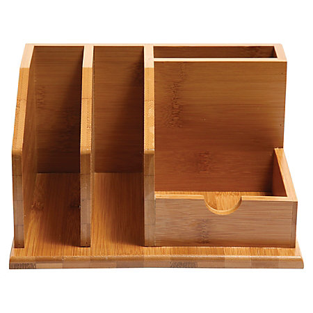 Baumgartens Bamboo Desk Organizer 8 12 X 6 18 X 4 18