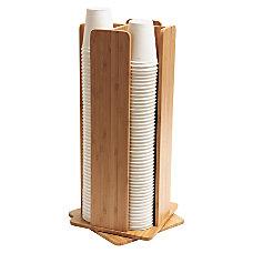 Baumgartens Bamboo Revolving CupLid Dispenser 8