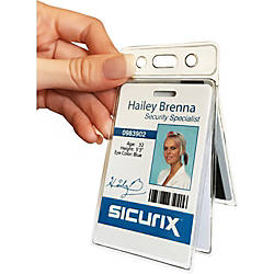 SICURIX Vinyl RFID Blocking Badge Holders