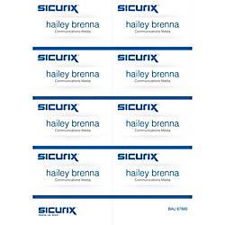 Baumgartens Sicurix Name Badge Kit Inserts
