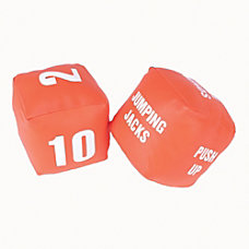 American Educational Products Fitness Dice RedWhite