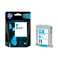 HP 11 Cyan Original Ink Cartridge