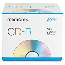 Memorex 52X CD R 30pk
