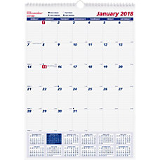 Rediform Monthly Wall Calendar Julian Monthly
