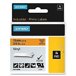 Dymo Colored Industrial Rhino Vinyl Labels