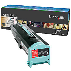 Lexmark X850H21G High Yield Black Toner