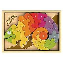 BeginAgain Toys Counting Chameleon Puzzle ThemeSubject