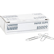 Sparco Paper Clips Jumbo Silver Box