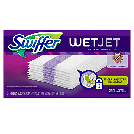 Swiffer Wetjet Pad Refills Pack Of 24 By Office Depot