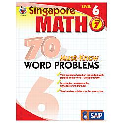 Carson Dellosa Singapore Math 70 Must