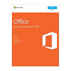 Microsoft Office Home Student 2016 1