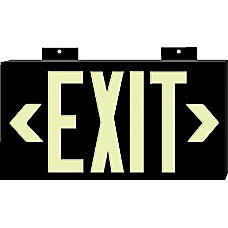 PHOTOLUM EXIT SIGN SINGLE SIDED WMOUNT