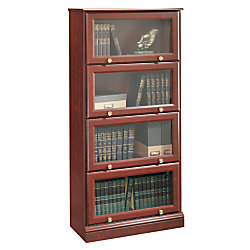 Sauder Roanoke Barrister Bookcase 60 18 H X 28 34 W 13 D Clic