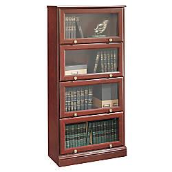 Sauder Roanoke Barrister Bookcase 60 18 H X 28 34 W X 13 D